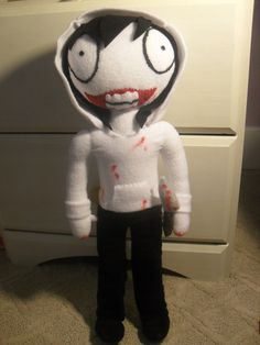 Jeff the Killer Plush 20 inches version by Awwdorable on Etsy