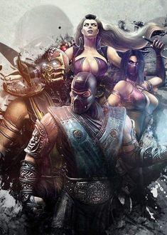 Scorpion, Sindel, Sub-Zero & Mileena Sub Zero Mortal Kombat, Mortal Kombat 9, Mortal Kombat Scorpion, Game Art, Mileena, Joko, Funny Tattoos, Video Game Characters, Fighting Games