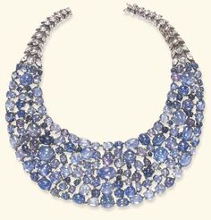 AN ELEGANT SAPPHIRE AND DIAMOND NECKLACE, BY RENE BOIVIN