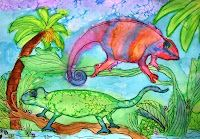 Deep Space Sparkle – Chameleon Art Lesson