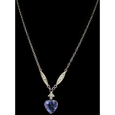 An Amethyst Pearl Heart Charm Necklace Victorian | 290115 |... ❤ liked on Polyvore featuring jewelry, necklaces, heart necklace, antique victorian necklaces, antique necklace, charm necklace and victorian necklace