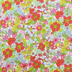 Liberty Tana Lawn Garden of Dreams Flower Tops A - Alice Caroline - Liberty fabric, patterns, kits and more - Liberty of London fabric online Textile Patterns, Flower Patterns, Print Patterns, Textiles, Liberty Of London Fabric, Liberty Fabric, Liberty Quilt, Lawn Fabric, Toddler Girl Dresses