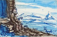På bestemors fang - KRANE GALLERI & RAMMEVERKSTED AS Painting, Art, Painting Art, Paintings, Kunst, Paint, Draw, Art Education, Artworks