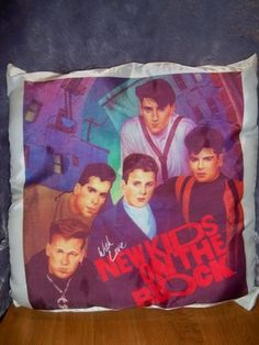 Rare Vintage 1990 New Kids On The Block With Love Art Pillow NKOTB
