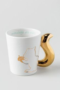 Mondays Are Nuts Gold Squirrel Mug *Would be good for Fresno State's Squirrel Appreciation Week