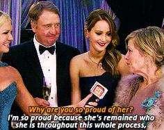 Here Is Jennifer Lawrence Getting Embarassed By Her Parents Just Like The Rest Of Us