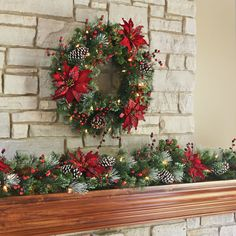 The Cordless Prelit Scottish Holiday Trim - Hammacher Schlemmer. This cordless prelit Scottish holiday wreath can be hung anywhere indoors or in a protected area outdoors without requiring unsightly extension cords or proximity to an outlet. The wreath evokes Scottish style with tartan-leaved poinsettias, red berries, and an assortment of frosted pinecones that nestle among dense greenery that replicate the growth patterns of actual conifer branches. #ChristmasDecoration