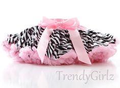 Zebra and Pink Animal Print Satin Trendy Girlz Pettiskirt Photography Prop Toddler Girls - SALE. $35.00, via Etsy.