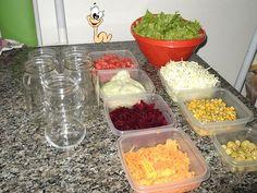 salada no vidro - Pesquisa Google
