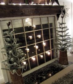 Insulated fireplace cover wpallet wood simple craftsdiy down to earth style old window as fireplace cover with candles via remodelaholic fireplace coverdiy solutioingenieria Image collections