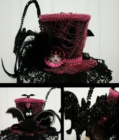 Monster High Draculaura Top Hat by misticmorgue on Etsy, $42.00
