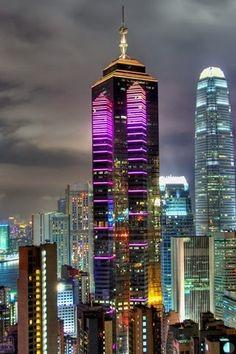 Colorful Hong Kong Skyline