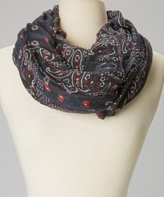 Look at this #zulilyfind! Navy Paisley Infinity Scarf by fantas-eyes #zulilyfinds
