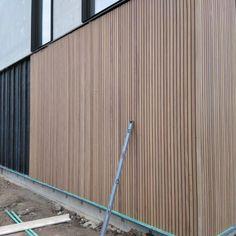 Wooden Cladding Exterior, Wooden Facade, House Cladding, Timber Cladding, Facade House, Vertical Siding, Modern House Facades, House Deck, Shed Homes