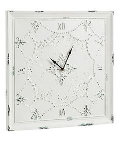 Loving this Antique White Wall Clock on #zulily! #zulilyfinds