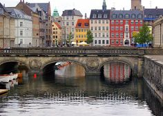 Bridge over the canal in Copenhagen, Denmark.