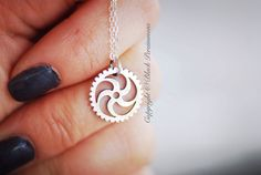 NEW  Steampunk Gear Necklace No. 2  Sterling by blackpersimmons, $27.00