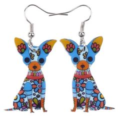 1Pair Women Lovely Chihuahua Dog Stud Earring Casuals Puppy Animal Jewelry P FS