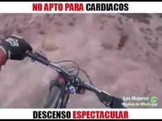 SI ERES CARDIACO O SUFRES DE VERTIGO NO VEAS ESTO BICICLETA EXTREMA EN P...