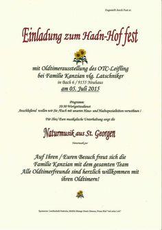 Oldtimertreffen und Hoffest Poster, Events, Billboard