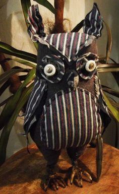 Coruja-Escultura Têxtil