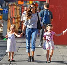 Her girls! Sarah Jessica Parker was in high spirits as she took her daughters Marion and T...