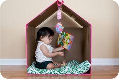 casa feita com caixa de papelão