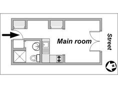 Small Studio Apartment Floor Plans Paris Apartment
