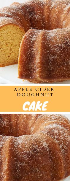 """Othing states""""fall"""" like an apple cider doughnut, also with this effortless bundt, you receive a crowd-friendly model of everybody's favori. Cupcake Recipes, Cupcake Cakes, Russian Cakes, Doughnut Cake, Apple Cider Donuts, Yogurt Cake, Moist Cakes, Savoury Cake, Cake Batter"""