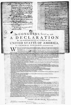 The Declaration of Independence is the founding document of American history. The Declaration of Independence is the founding document of American history.