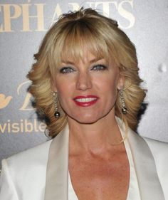 blonde curly hairstyle for women over 50