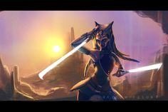 Please welcome Do'runn Shaak, a Twi-lek Jedi ! I would like create a jedi since a long time ago, now its done ! less of 10h of works on this. The background is totally inspired by this artwork: htt...