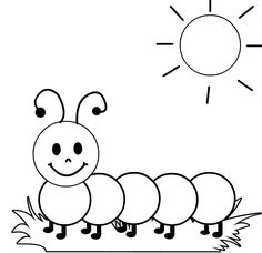 Caterpillar coloring page | BCERSSITE | Insect coloring pages, Fall ...