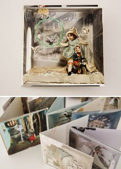 """cards made from Natascha Boel's """"collage dioramas"""""""