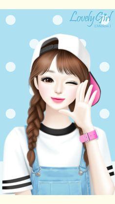 art, art girl, background, beautiful, beautiful girl, beauty, blue background, cartoon, cute art, design, drawing, Enakei, fashion, girl, hair, illustration, illustration girl, pink, sweet, sweet girl, wallpapers, we heart it, lovely girl, beautiful art,