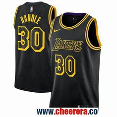 ab1f92ffc Men s Nike Los Angeles Lakers  30 Julius Randle Black NBA Swingman City  Edition Jersey