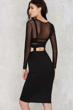 Oh My Love Heartbreaker Bodycon Dress - Clothes | Going Out | Body-Con | LBD