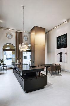 White Kitchen: Discover 70 Ideas with Inspiring Photos - Home Fashion Trend Kitchen Interior, Kitchen Design, White Brick Walls, Bright Kitchens, Contemporary Interior Design, Minimalist Kitchen, Florida Home, White Furniture, Living Room Kitchen