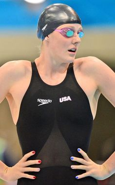 USA, Missy Franklin, Swimming...more Olympic nail art.