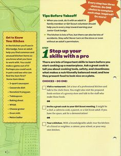 girl scout junior badge simple meals requirements