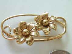 Vintage 12Kt Gold Filled Brooch / Pin / Forstner Brooch / Pin / Forstner Jewelry / 12Kt Gold Filled Jewelry / Floral Brooch / Pin by TamJewelryandUniques on Etsy