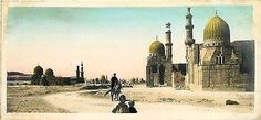 Cairo Egypt 1908 Real Photo Collectible Antique Vintage Postcard Tombs of Kalifs