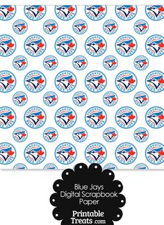 Toronto Blue Jays Baseball Digital Paper with Dark Blue Background Baseball Birthday, Baseball Party, Boy Birthday, Birthday Ideas, Toronto Blue Jays Logo, Dark Blue Background, Digital Scrapbook Paper, Kids Cards, Teacher Gifts