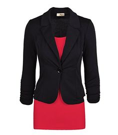 HyBrid & Company Womens Junior Relaxed Get the job done Place of work Blazer Jacket Manufactured in United states of america