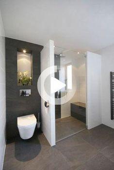 Small Bathroom, Master Bathroom, Bathroom Ideas, Brass Bathroom, Contemporary Bathroom Designs, Design Moderne, Bathroom Interior Design, Bathroom Inspiration, Walk In