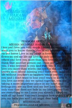 ♥ ♥  Temmora Artist​❤  Hakan Sarıaslan​❤ Miesha Michelle Levy​ ░❤:░ ░(`♥•.( ♥♥░ (¯`❤:´¯)░♥ ♥ ♥.•´¯)░(¯`❤:´¯)♥ ♥ ░omy only one I love you very much my baby Let's keep our love forever Love in my heart is forever my angel  my beautiful my soul-my life my love You are everything to me You can't imagine how much I love you you and I dear baby my forever my love (¯`❤:´¯)(¯`❤:´¯)(¯`❤:´¯)