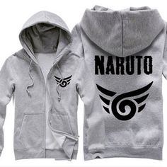 Camplayco Naruto Logo Cosplay Gray Hoodies Warm Coat Size S New Style *** Check out the image by visiting the link.