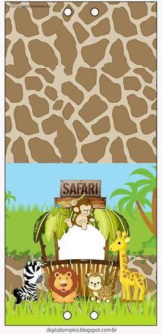 Safari Bebés: Etiquetas para Candy Bar para Imprimir Gratis.