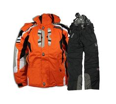 9b82d9da0 Spyder Men Ski Suit New Orange Black Snowboard Suit, North Face Hoodie,  Skiing,