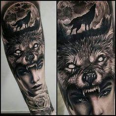 Wolf eye tattoo, werewolf tattoo, wolf tattoos men, animal tattoos, b Wolf Eye Tattoo, Hai Tattoo, Werewolf Tattoo, Wolf Tattoos Men, Wolf Tattoo Design, Animal Tattoos, Leg Tattoos, Body Art Tattoos, Girl Tattoos